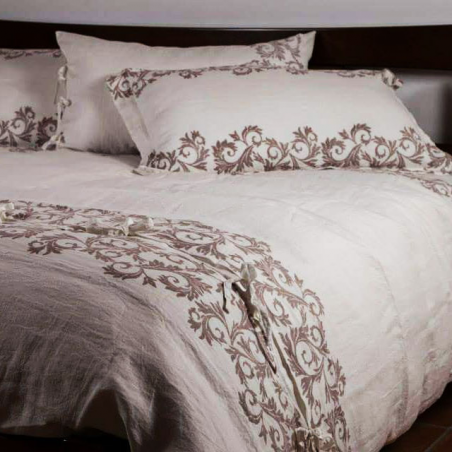 Bedspread linen wrinkled acanto collection