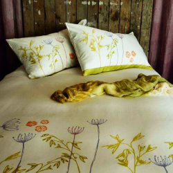 Bedspread linen collection Murous Shaved cotton
