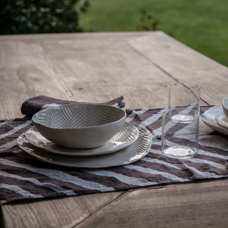 Italian table runner chevron collection hand printed