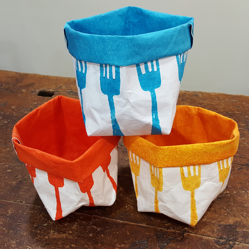 Breadbox washable paper forks print