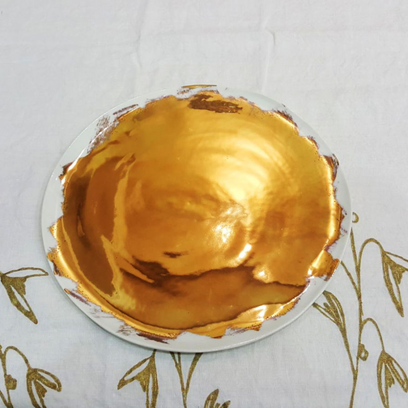 Plates hand-painted pure gold