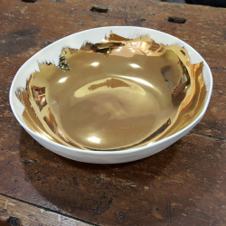 Porcelain Plates hand-painted in gold