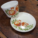 Set Ceramic Breakfast pomegranate decoration