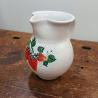 Caraffe in ceramica da litro decorate con fragole