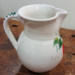 Ceramic liter jug decorated with strawberries
