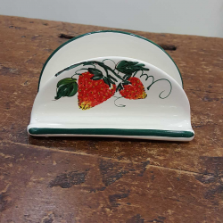Porta tovaglioli decorati fragola in ceramica